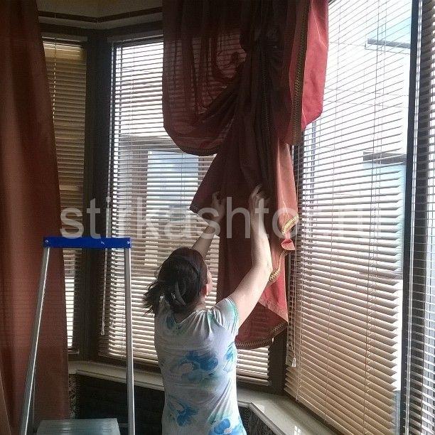 Укладываем шторы