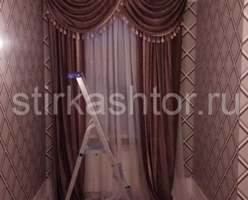 чистка штор в загородном доме