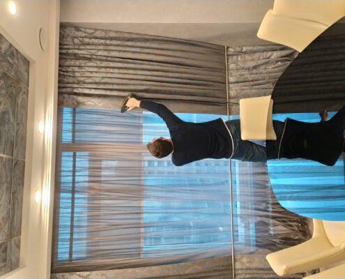 химчистка штор в Москве под ключ