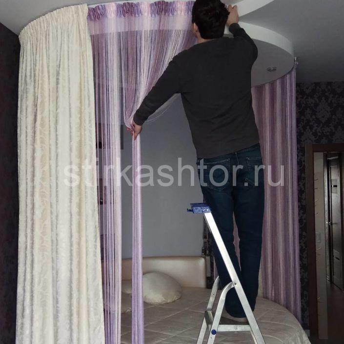 Химчистка нитевых штор