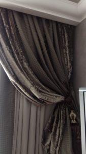 химчистка комбинированных штор