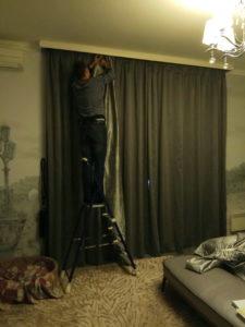 стирка и химчистка штор под ключ