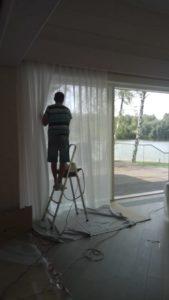 химчистка штор со снятием и развесом